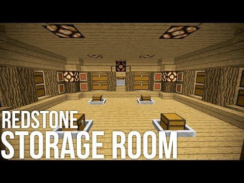 Minecraft: Coolest Redstone Storage Room - Redstone Invention