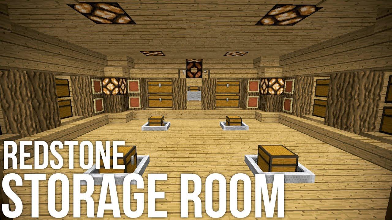 Minecraft Coolest Redstone Storage Room Redstone