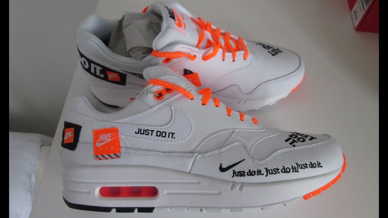 Nike Air Max 1 JUST DO IT Review & Rating, Special Edition. Nike Trainers, scarpa, Sneakers, 2018.