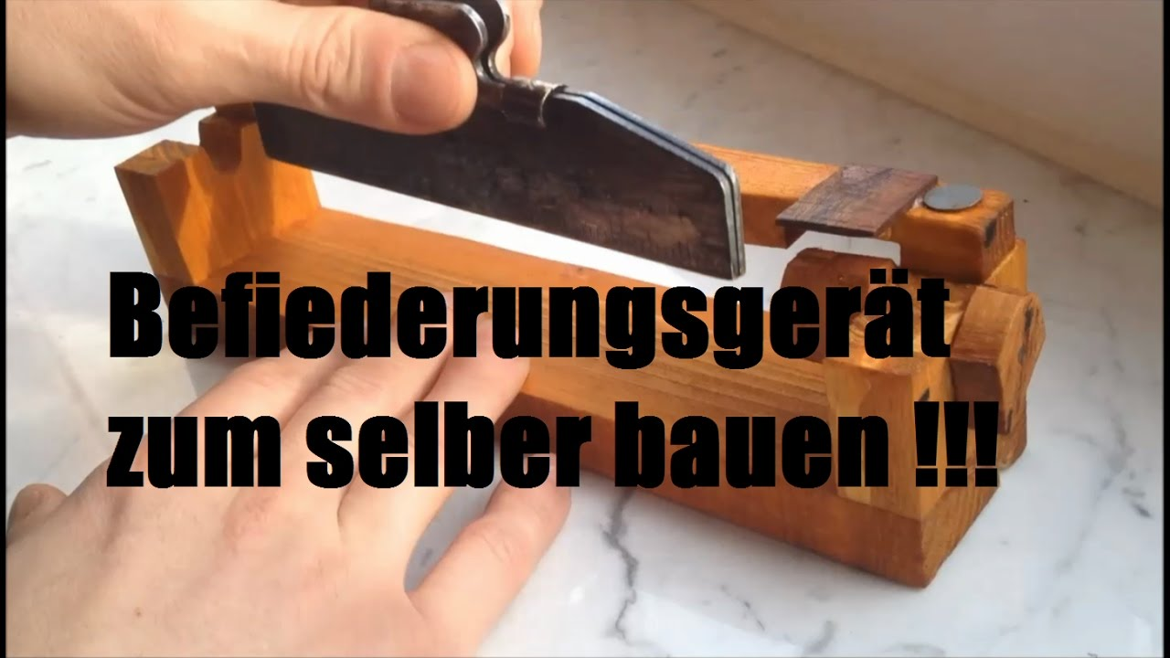 befiederungsger t selbst bauen fletching tool selfmade youtube. Black Bedroom Furniture Sets. Home Design Ideas