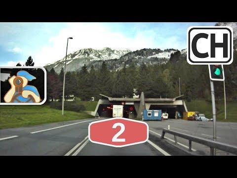 Svizzera. A2. Lugano - Gotthard-Strassentunnel
