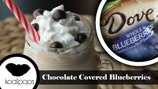 Dove Chocolate Covered Blueberries Milkshake | Milkshake Mondays