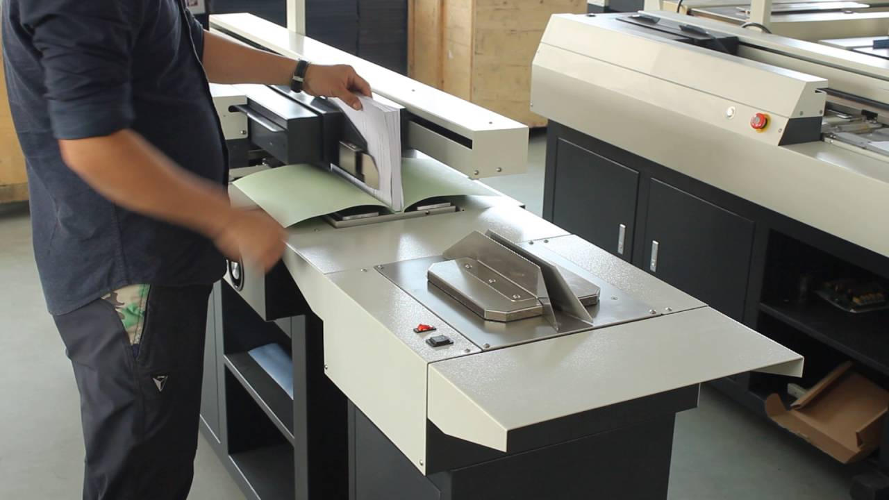 how to use book binding machine
