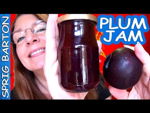 HOW TO MAKE PLUM JAM - PLUM PRESERVES: BEST RECIPE! Sprig Barton Tutorial!