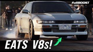 AWD Silvia Dominates V8s...AGAIN! | fullBOOST