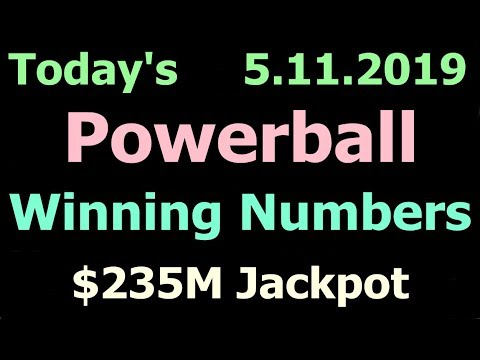 Today Powerball Winning Numbers 11 May 2019. Powerball drawing tonight Saturday 5/11/2019
