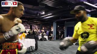 ZELFA BARRETT: Back stage footage, getting ready to fight
