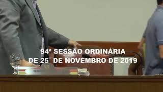 94º Sessão Ordinária