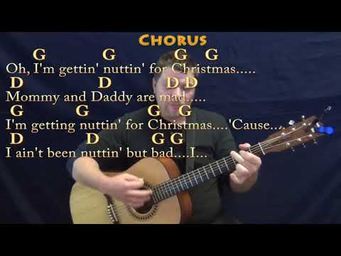 Nuttin for Christmas - Strum Guitar Cover Lesson in G with Chords/Lyrics