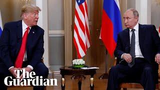 Trump winks at Putin at start of Helsinki summit Donald Trump appears to wink at Vladimir Putin during