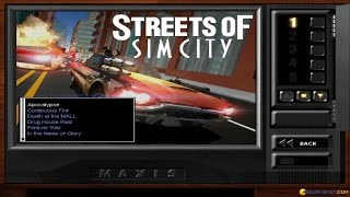 Streets of SimCity gameplay (PC Game, 1997)