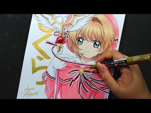 Speed Drawing - Sakura Kinomoto [Cardcaptor Sakura: Clear Card]