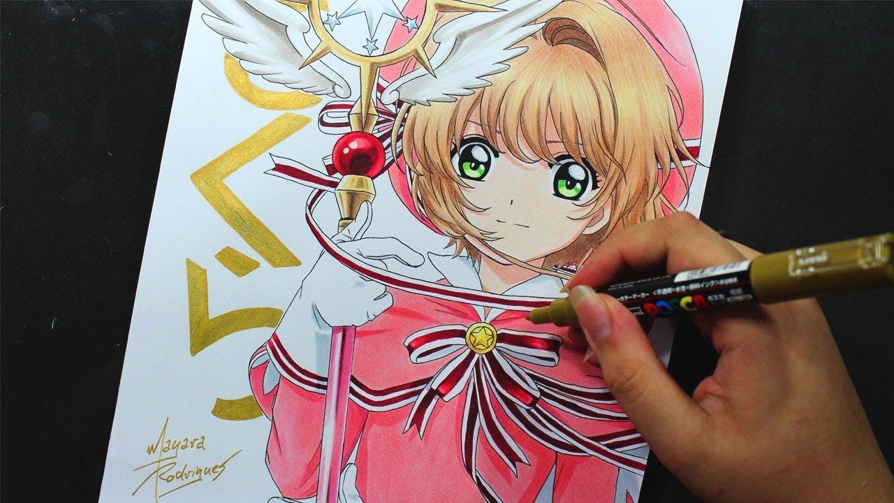Speed Drawing Sakura Kinomoto Cardcaptor Sakura Clear Card