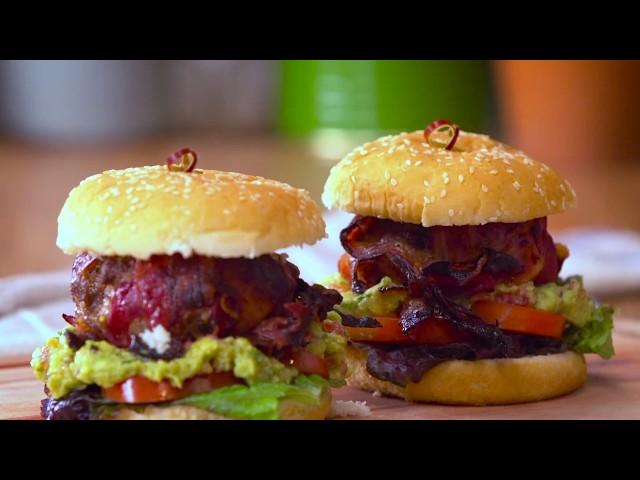 Hamburguesa envuelta en panceta - Cucinare