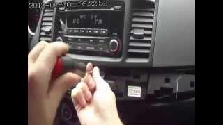 установка USB провода на Mitsubishi Lancer X