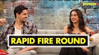 Sidharth Malhotra and Rakul Preet Singh Rapid Fire Round | Aiyaary | SpotboyE