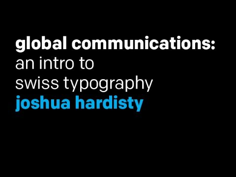 Intro to Typography—Swiss Typography (aka the International Typographic Style)
