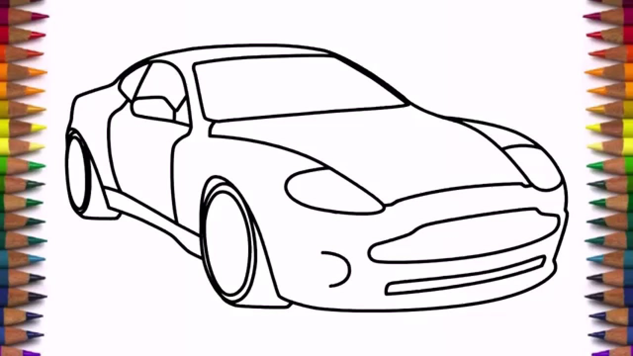 How to draw a car Aston Martin DB9 step by step easy ...