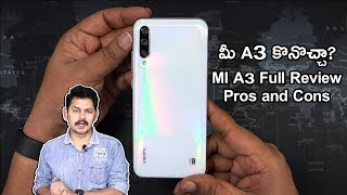 MI A3 Mobile Phone Full Review with Camera Pros and Cons in Telugu