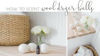 How to Scent Dryer Balls with Essential Oils