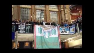 Lazio fans in Liverpool street
