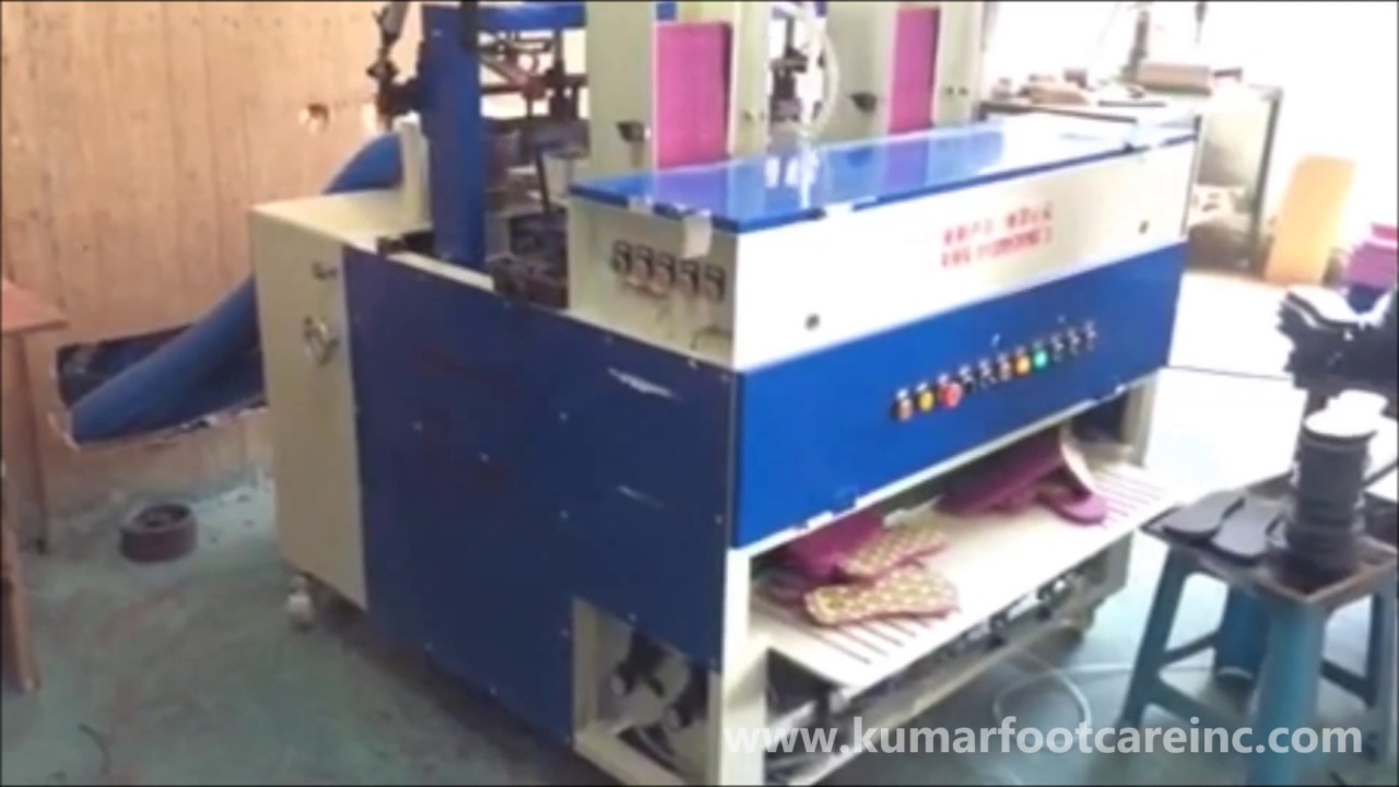 b5054c3f835 EVA Flip Flop Slipper Edge Grinding Machine - YouTube