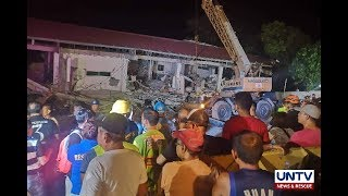 Rescuers claim no more persons trapped under rubbles of collapsed supermarket in Pampanga