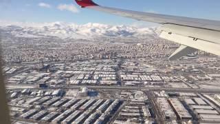 Karlar Altında Konya'ya Iniş.. Landing To Konya Airport