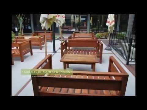 Sillones de madera muebles de madera y jard n com youtube for Muebles para jardin en madera
