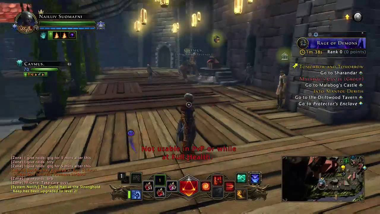 Neverwinter - Level 70 Dark Elf Rogue / Upgrading the Guild Hall to Level 2  (Xbox One)