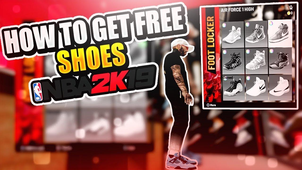 FREE IN NBA 2K19 FREE CUSTOM SHOES