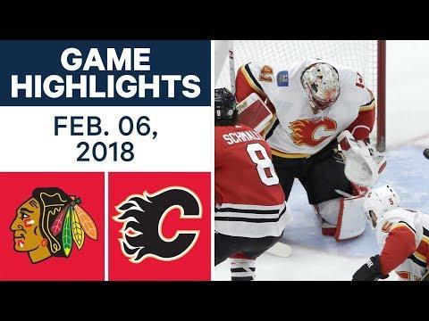 NHL Game Highlights | Blackhawks vs. Flames — Feb. 06, 2018
