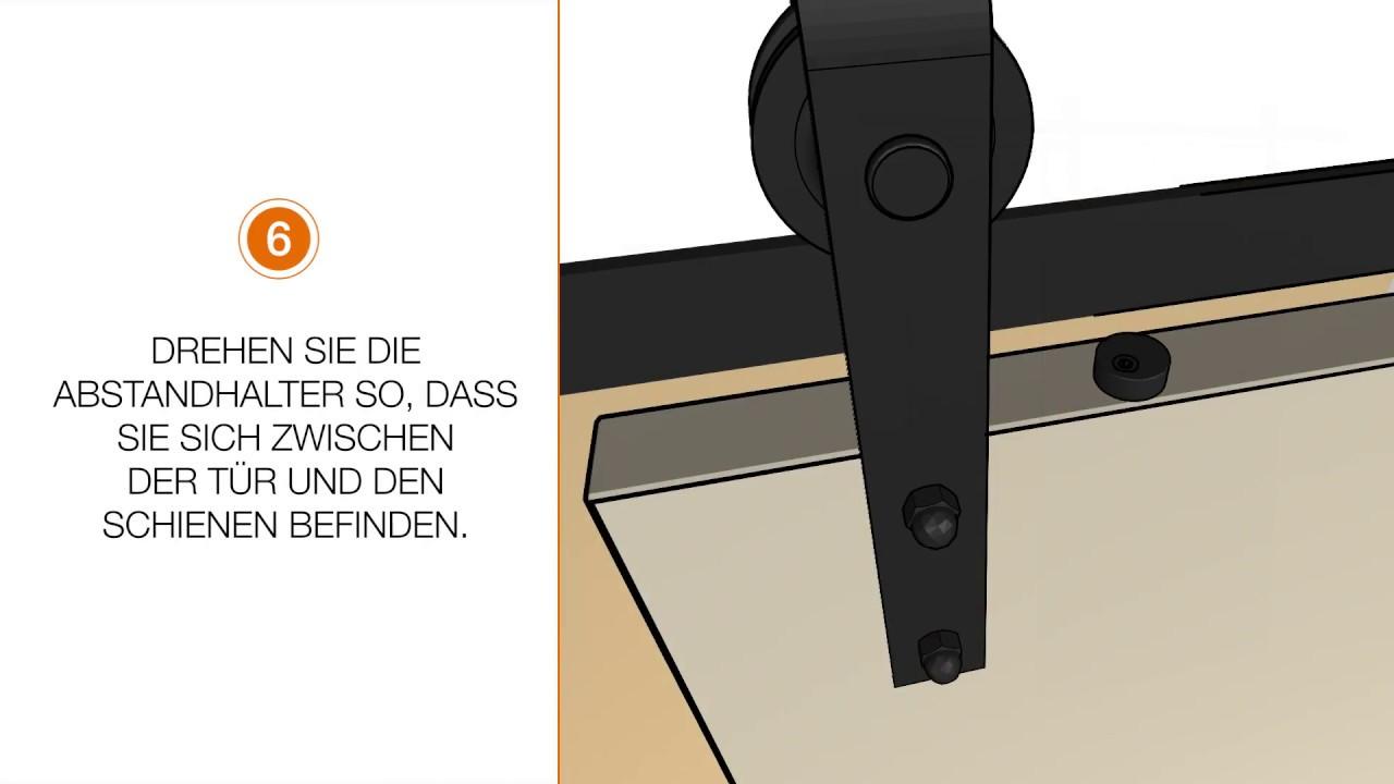 intersteel video anleitung wie montiere ich ein schiebet rsystem an einer betonwand youtube. Black Bedroom Furniture Sets. Home Design Ideas