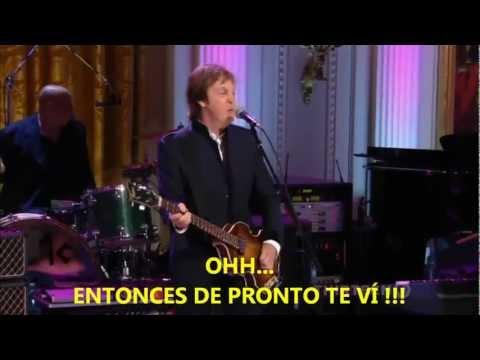 Paul McCartney- Got To Get You Into My Life (Subtitulada Español) HD (Live White House: 2010)