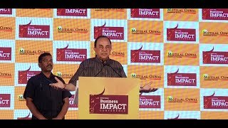 Dr Subramanian Swamy MindBlowing Speech on Facts of Indian Economy,Potentials For Future & Politics