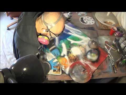 """""""chakra Univerese"""" full length demo 3d spray paint art"""