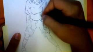 Drawing Sasuke Uchiha (Curse Mark Lvl 1) My Way