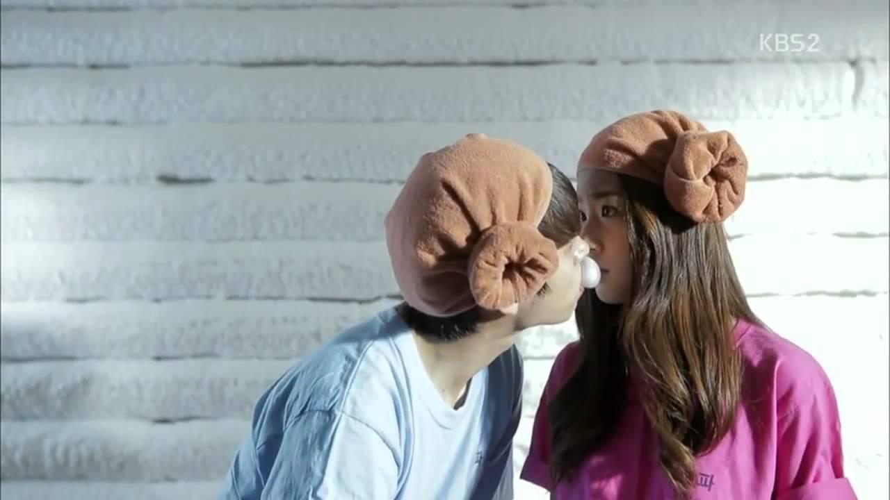 high school love on woohyun amp seul bi kiss scene youtube