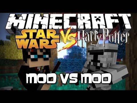 Minecraft: STAR WARS VS HARRY POTTER! Mod VS Mod! - YouTube