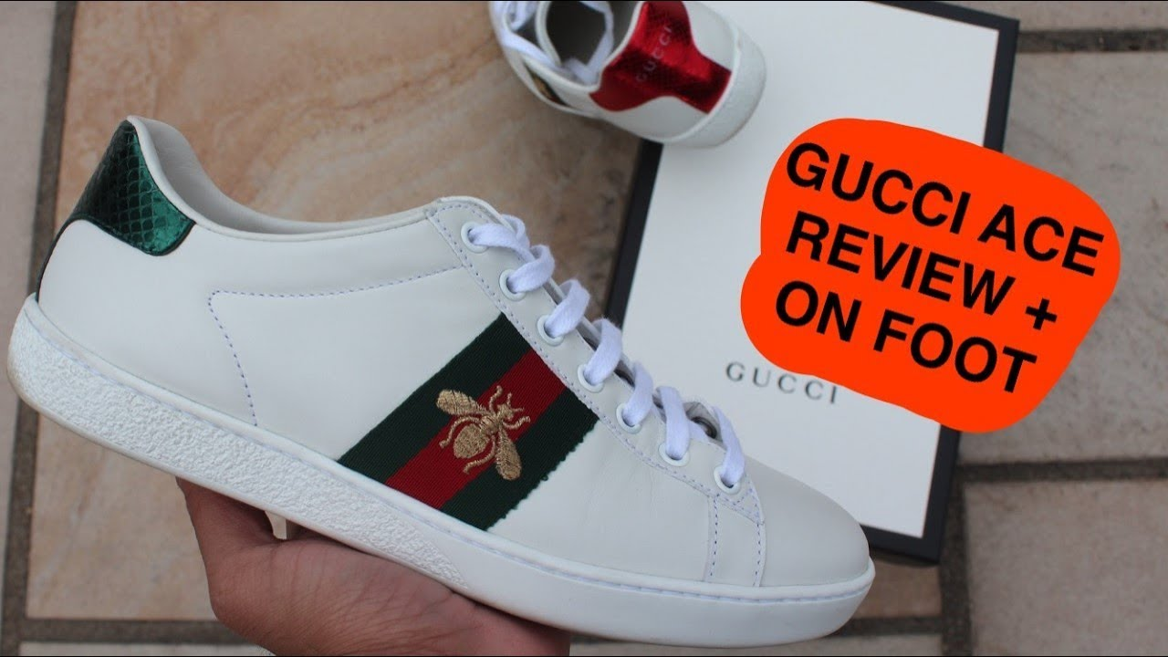 ccf5db1bf Gucci Ace Bee Sneakers Review + On Foot - YouTube