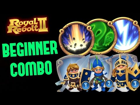 ROYAL REVOLT 2 - BEGINNER COMBO (first 3 Spells & Units)
