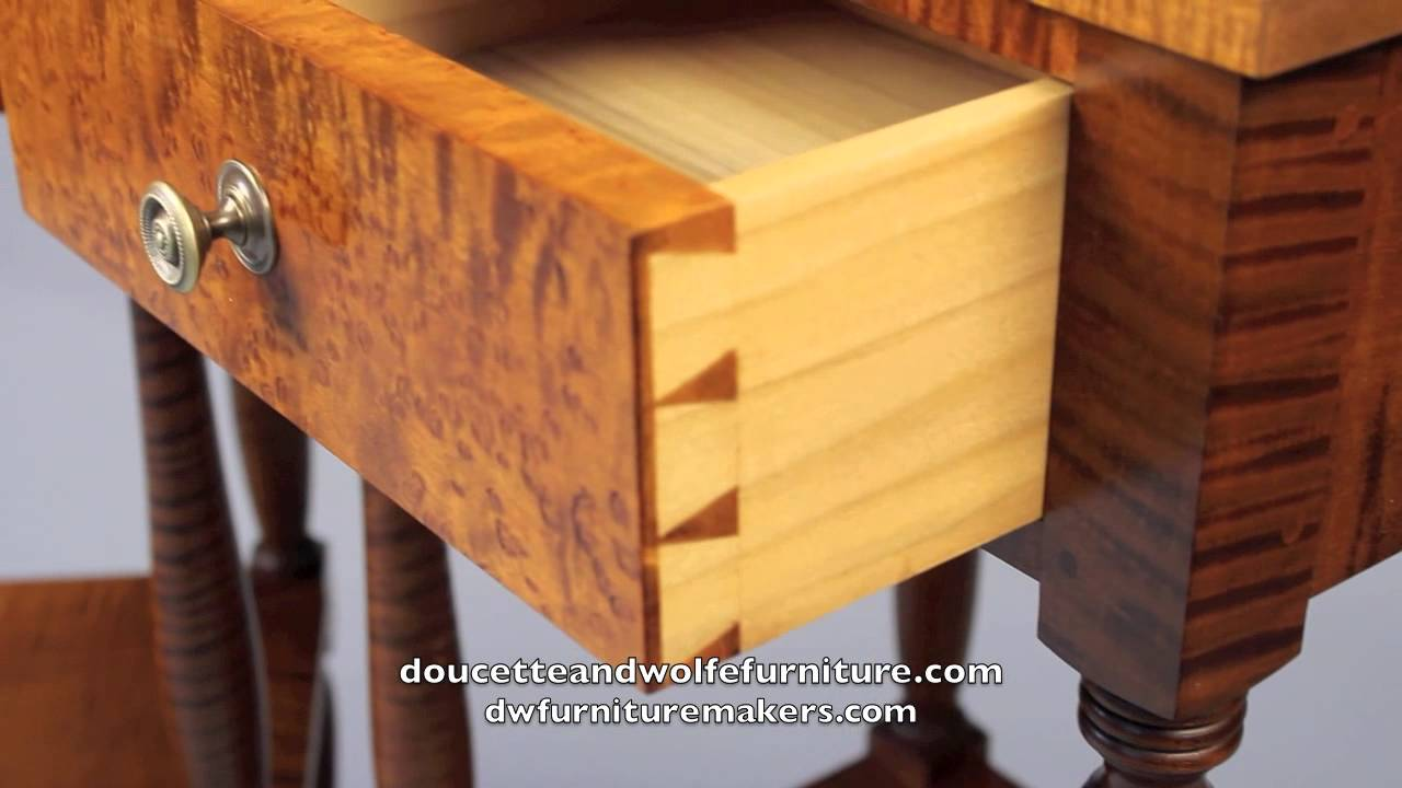 Traditional Nightstand Handmade By Doucette And Wolfe Furniture Makers Youtube