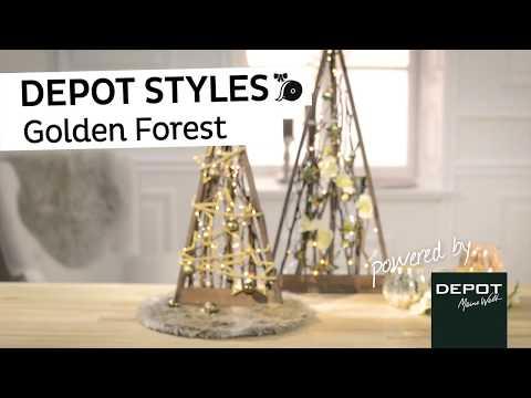 Depot Weihnachtsdeko.Depot Styles Golden Forest Weihnachtsdeko Mit
