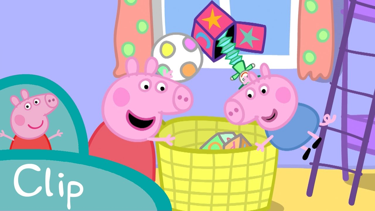 peppa pig fran ais ranger la chambre youtube. Black Bedroom Furniture Sets. Home Design Ideas