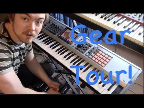 Studio Tour Part 1 - Gear and Hardware w. demos/keyboard drumming!