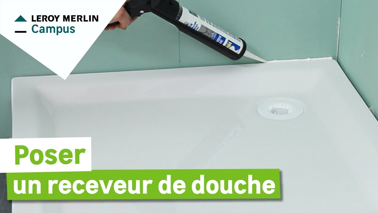 comment poser un receveur de douche pr t carreler leroy merlin youtube. Black Bedroom Furniture Sets. Home Design Ideas
