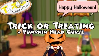Toontown Rewritten- Trick or Treating + Pumpkin Head Curse (All Locations)