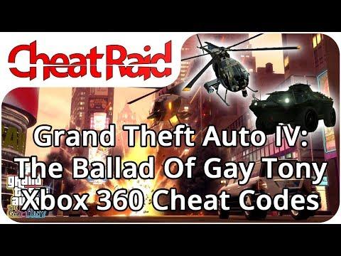 Grand Theft Auto IV: The Ballad Of Gay Tony Cheat Codes | Xbox 360