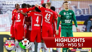 tipico Bundesliga, 17. Runde: FC Red Bull Salzburg - WSG Tirol 5:1