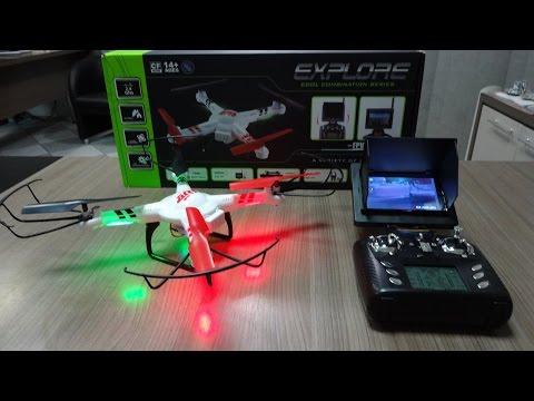 WL Toys V686G - Unboxing e Detalhes do Quadricóptero / Drone FPV (Portuguese + English Subtitles)